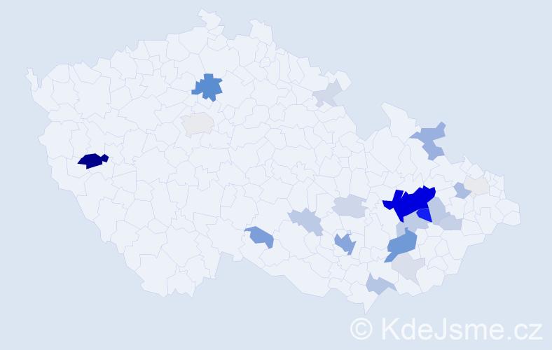 Příjmení: 'Krempl', počet výskytů 78 v celé ČR