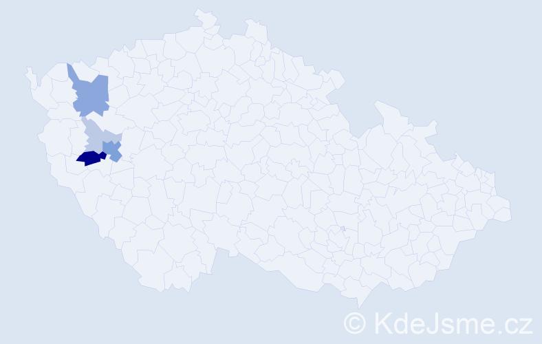 Příjmení: 'Grlačka', počet výskytů 14 v celé ČR
