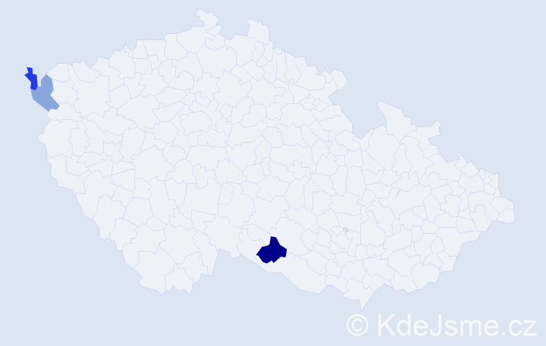 Příjmení: 'Laučík', počet výskytů 4 v celé ČR