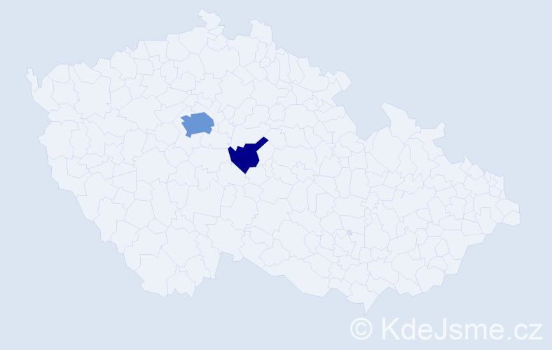 Příjmení: 'Bobuski', počet výskytů 6 v celé ČR
