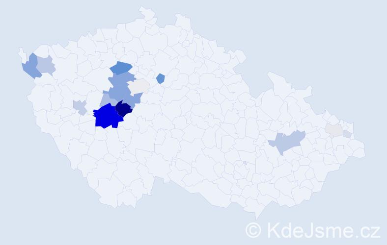 Příjmení: 'Rampa', počet výskytů 54 v celé ČR