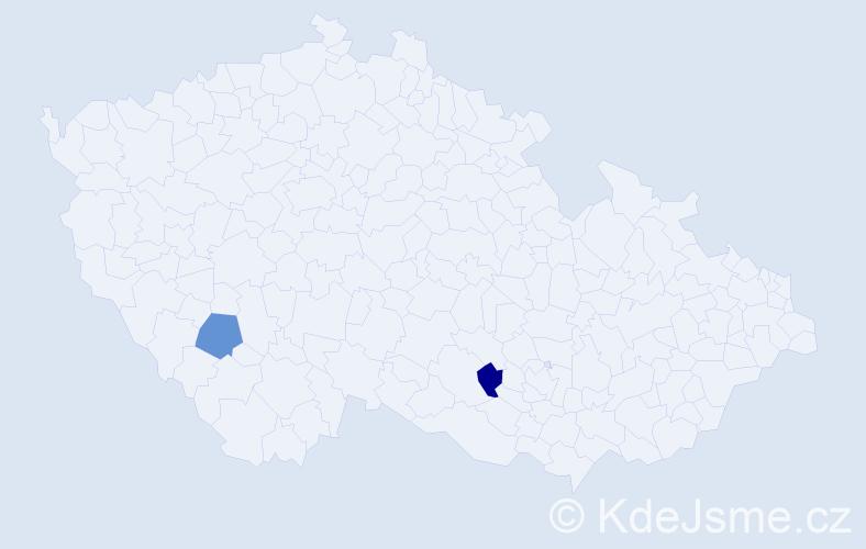 Příjmení: 'Červinčák', počet výskytů 7 v celé ČR