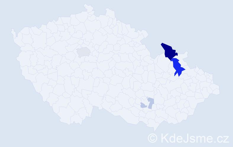 Příjmení: 'Černatovič', počet výskytů 14 v celé ČR