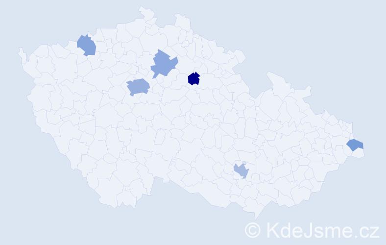 Příjmení: 'Grey', počet výskytů 13 v celé ČR