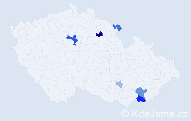 Příjmení: 'Bubelíny', počet výskytů 18 v celé ČR