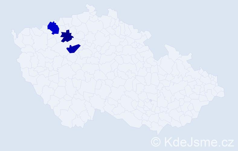 Příjmení: 'Dyttrychová', počet výskytů 9 v celé ČR