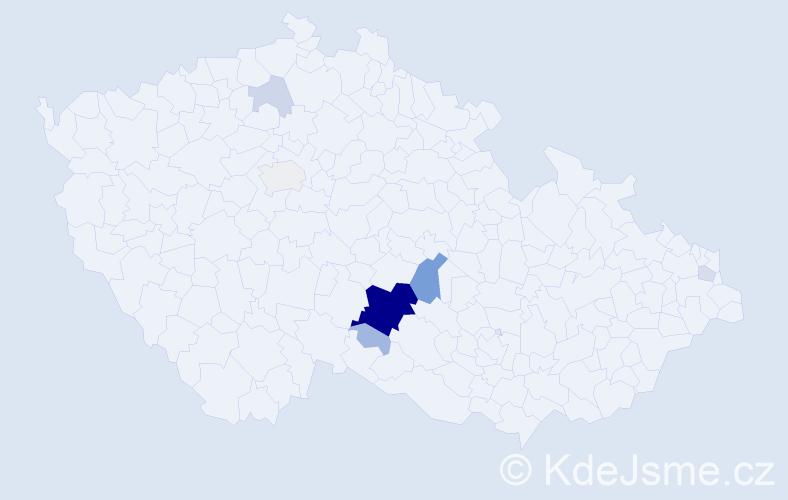 Příjmení: 'Kodys', počet výskytů 51 v celé ČR