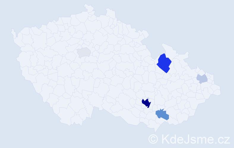 Příjmení: 'Halili', počet výskytů 15 v celé ČR