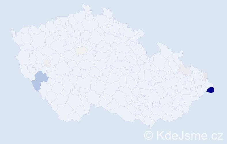 Příjmení: 'Baselides', počet výskytů 29 v celé ČR