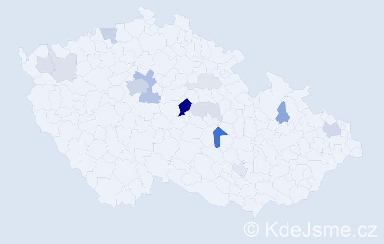 Příjmení: 'Benoni', počet výskytů 43 v celé ČR