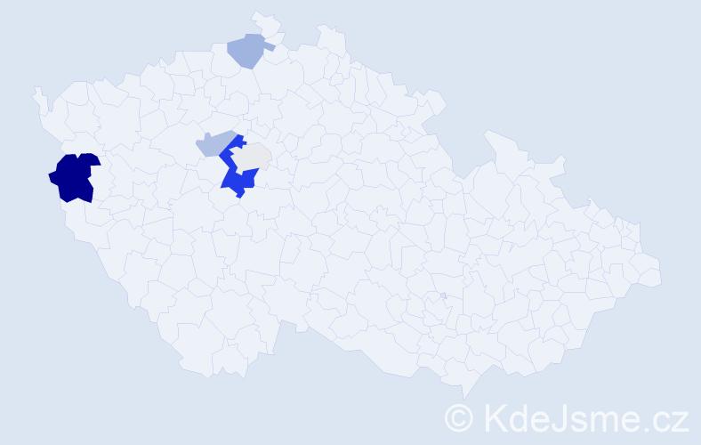 Příjmení: 'Erd', počet výskytů 11 v celé ČR