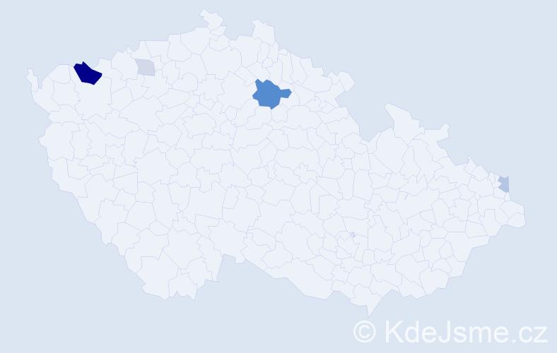 Příjmení: 'Ágh', počet výskytů 15 v celé ČR