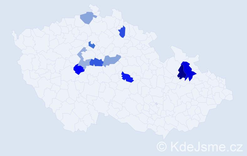 Příjmení: 'Ďörďová', počet výskytů 12 v celé ČR