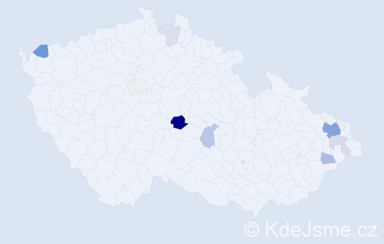 Příjmení: 'Fírková', počet výskytů 20 v celé ČR