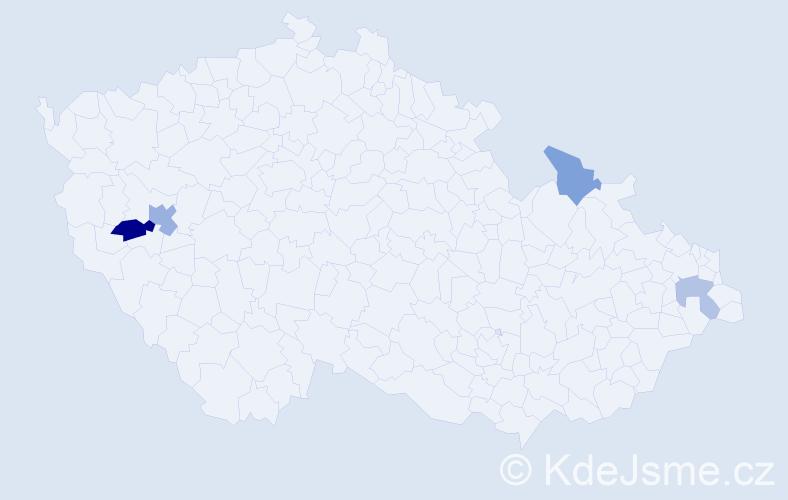 Příjmení: 'Galdun', počet výskytů 6 v celé ČR