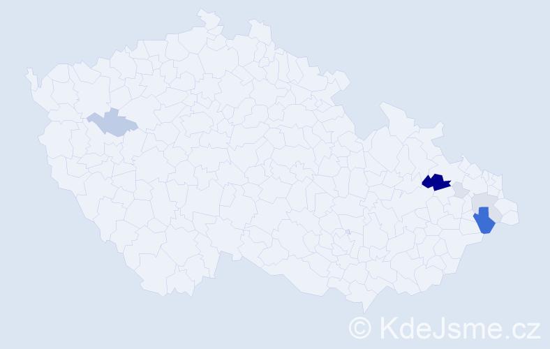 Příjmení: 'Bielý', počet výskytů 29 v celé ČR