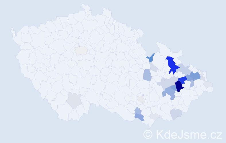 Příjmení: 'Frais', počet výskytů 113 v celé ČR