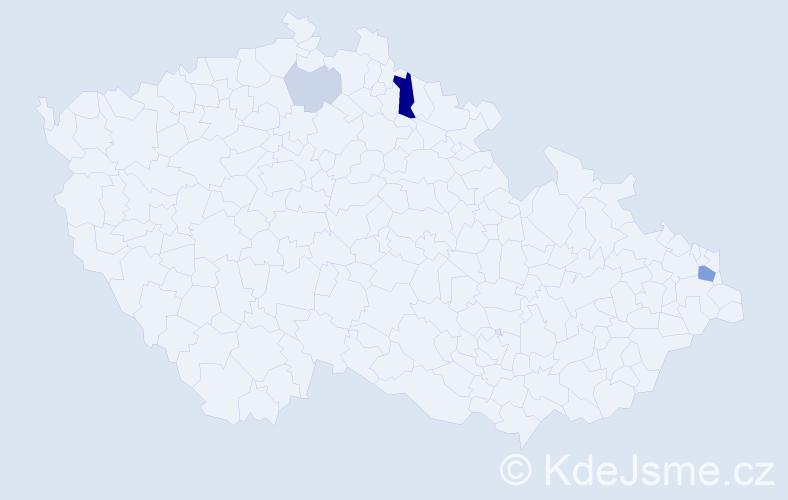 Příjmení: 'Esch', počet výskytů 9 v celé ČR