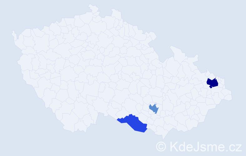 Příjmení: 'Hipšr', počet výskytů 7 v celé ČR