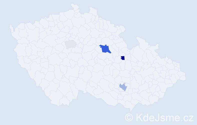 Příjmení: 'Gulkášová', počet výskytů 7 v celé ČR
