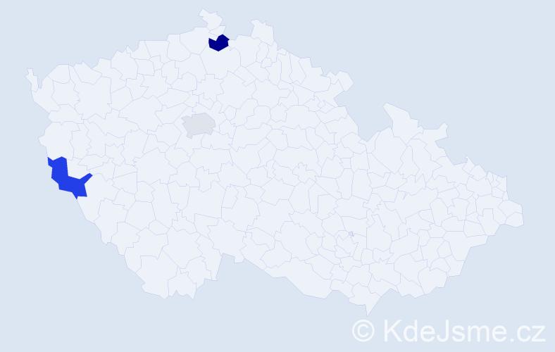 Příjmení: 'Iwachowá', počet výskytů 3 v celé ČR