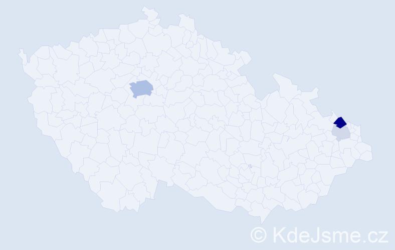 Příjmení: 'Jonke', počet výskytů 11 v celé ČR