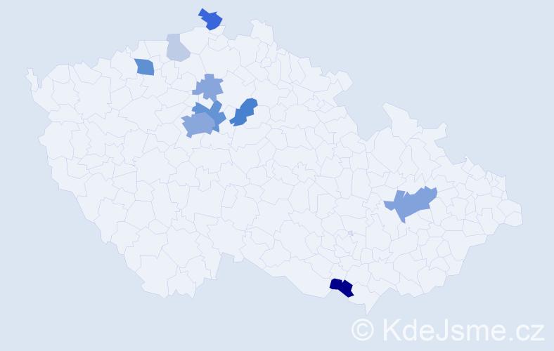 Příjmení: 'Lachmann', počet výskytů 32 v celé ČR