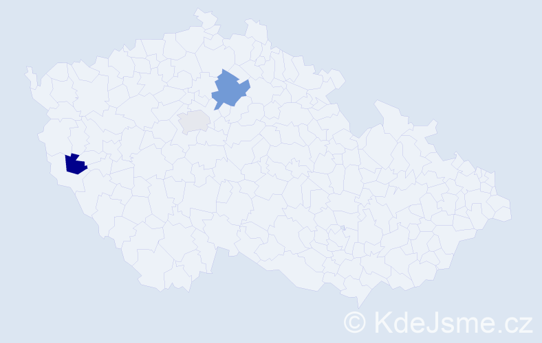 Příjmení: 'Ahopšuk', počet výskytů 4 v celé ČR