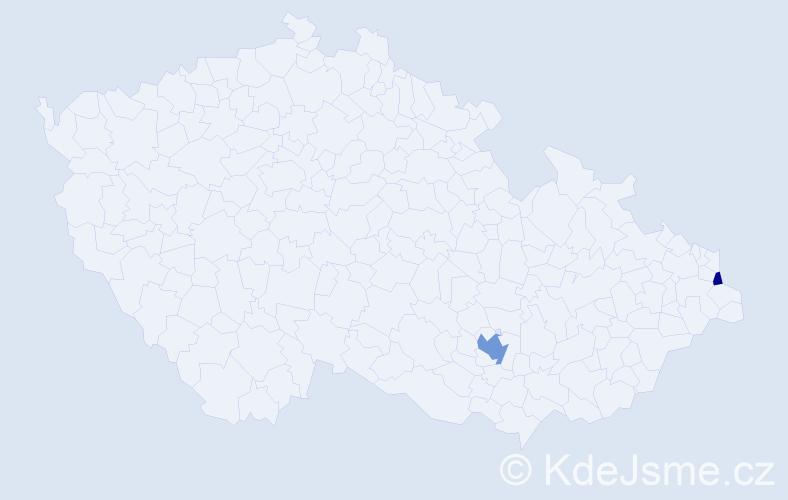 Příjmení: 'Gerguri', počet výskytů 8 v celé ČR