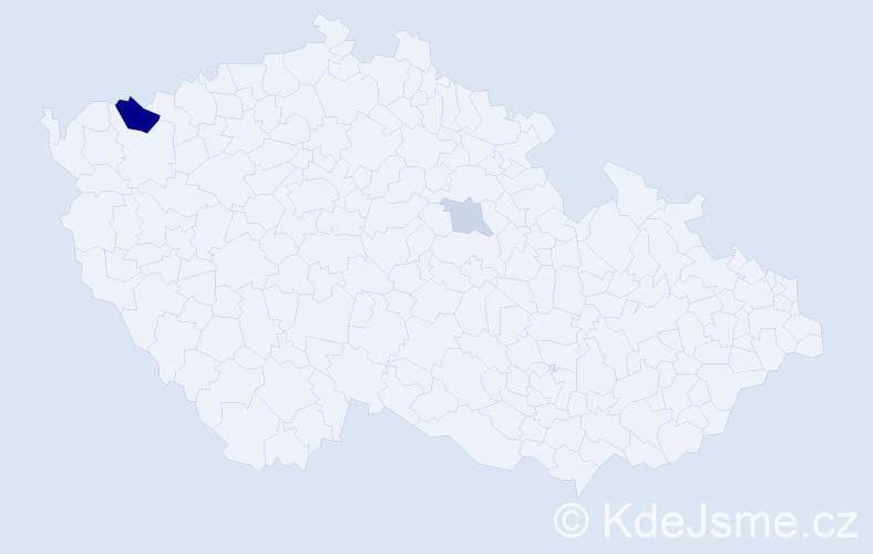 Příjmení: 'Gajdosik', počet výskytů 5 v celé ČR