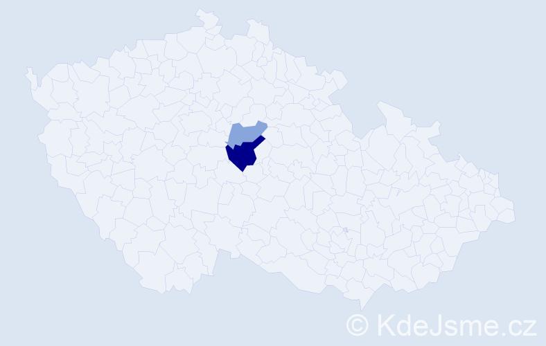 Příjmení: 'Lajgnerová', počet výskytů 4 v celé ČR