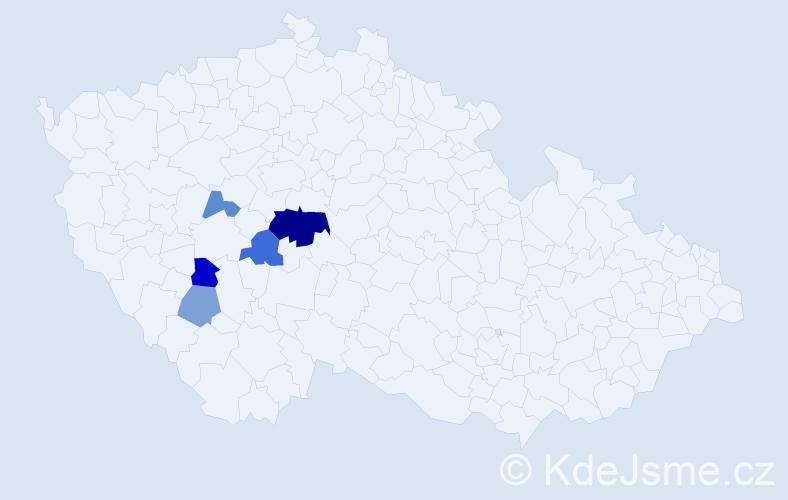 Příjmení: 'Dumský', počet výskytů 17 v celé ČR
