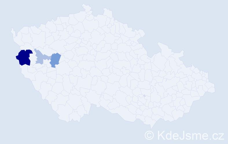 Příjmení: 'Blobnerová', počet výskytů 8 v celé ČR