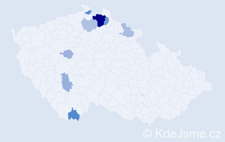 Příjmení: 'Guschl', počet výskytů 19 v celé ČR