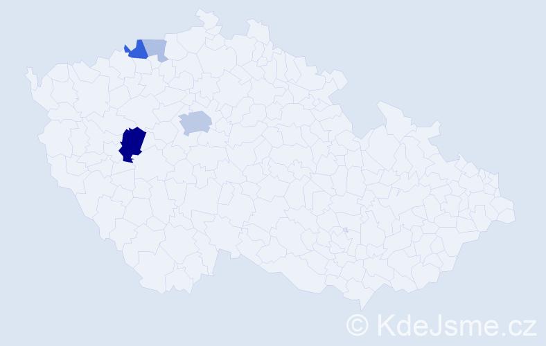 Příjmení: 'Ivasienková', počet výskytů 13 v celé ČR