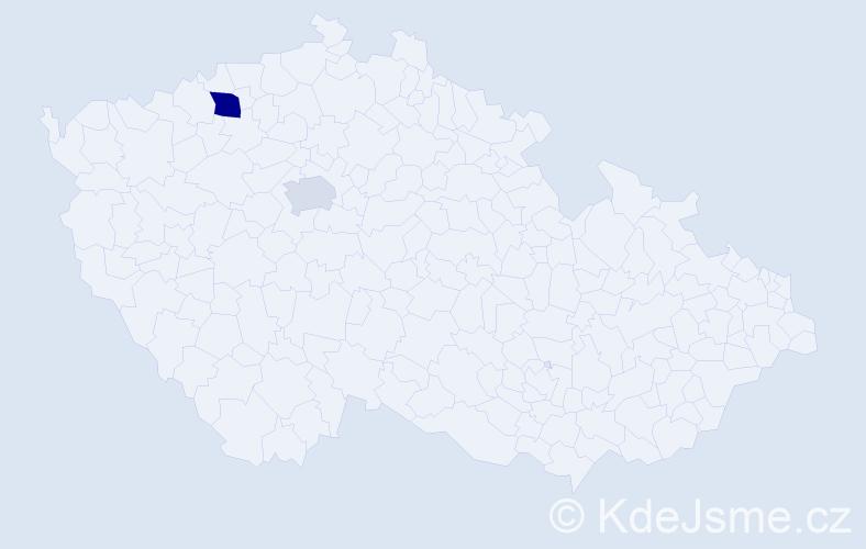 Příjmení: 'Klenáková', počet výskytů 3 v celé ČR