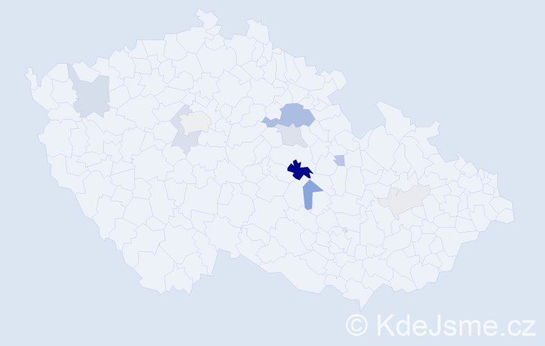Příjmení: 'Bulena', počet výskytů 29 v celé ČR