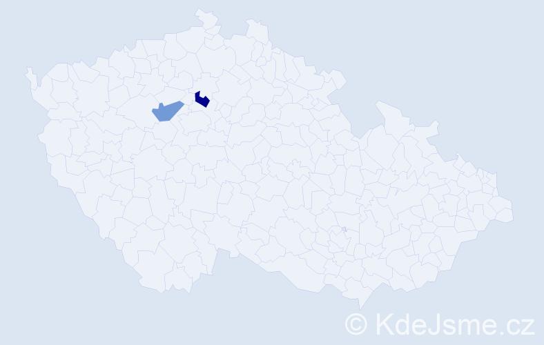 Příjmení: 'Abud', počet výskytů 2 v celé ČR