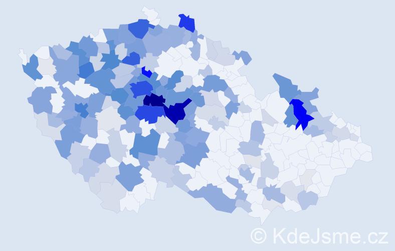 Příjmení: 'Kalašová', počet výskytů 792 v celé ČR