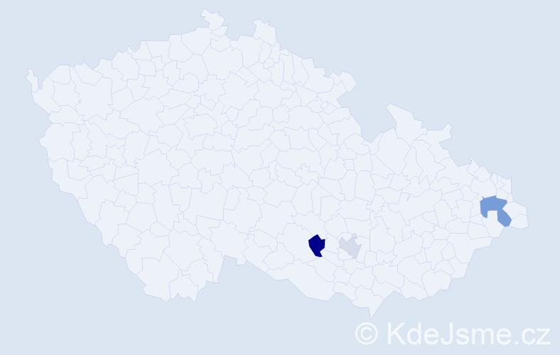 Příjmení: 'Cibuliak', počet výskytů 8 v celé ČR