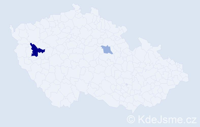 Příjmení: 'Häkkinen', počet výskytů 4 v celé ČR