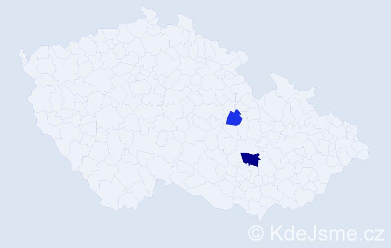 Příjmení: 'Illovská', počet výskytů 4 v celé ČR