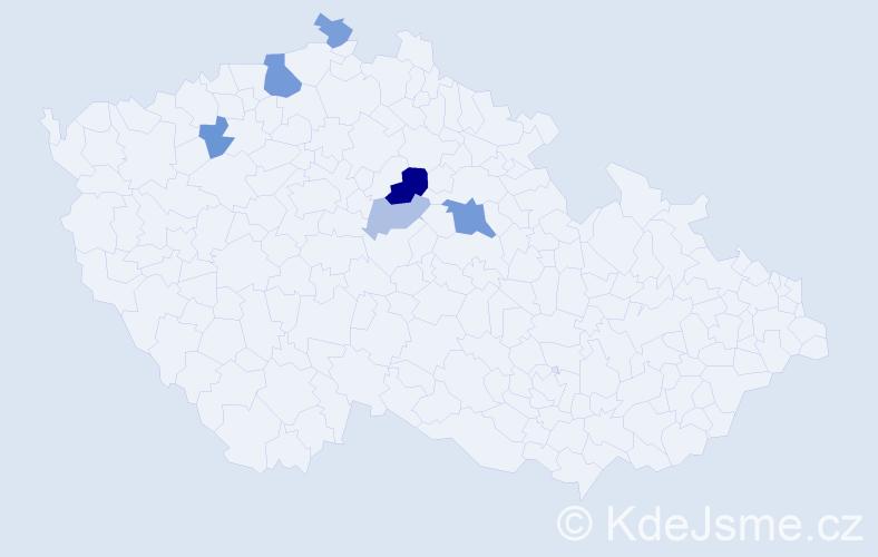 Příjmení: 'Englicová', počet výskytů 12 v celé ČR