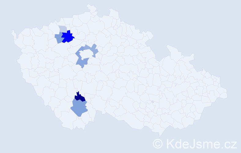 Příjmení: 'Gebelt', počet výskytů 18 v celé ČR