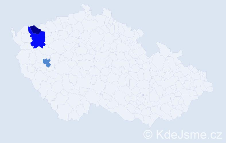 Příjmení: 'Černoková', počet výskytů 5 v celé ČR