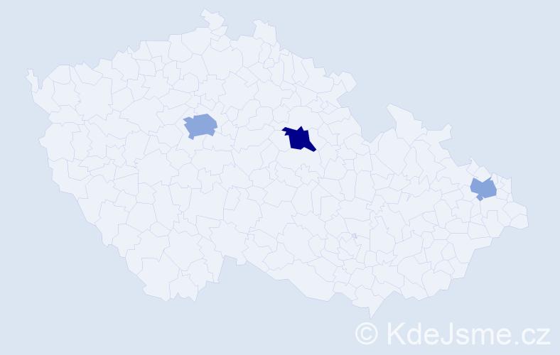 Příjmení: 'Bohovič', počet výskytů 6 v celé ČR