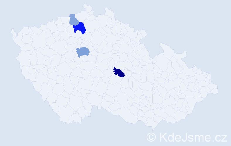 Příjmení: 'Lambl', počet výskytů 12 v celé ČR