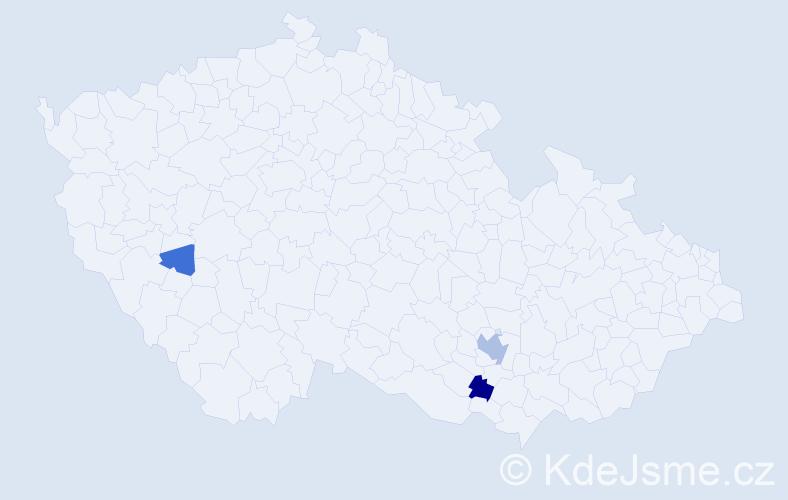 Příjmení: 'Emmert', počet výskytů 8 v celé ČR
