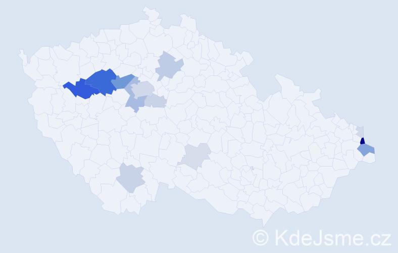 Příjmení: 'Altera', počet výskytů 46 v celé ČR