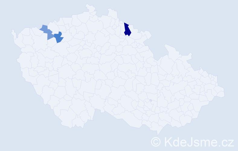 Příjmení: 'Karadža', počet výskytů 4 v celé ČR